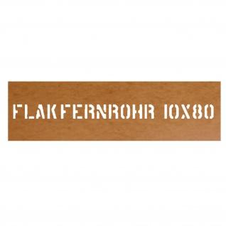 Lackierschablone Flakfernrohr 10x80 NVA TSK Flakfernglas Beobachtung #31972