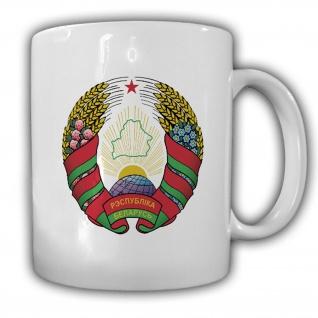 Tasse Republik Weißrussland Wappen Emblem Kaffee Becher #14029