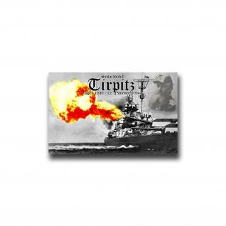 Aufkleber/Sticker Schlachtschiff Tirpitz Marine 11x7cm A952