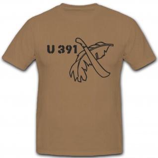 UBoot 391 U391 Wh Wk Untersee Marine Schlachtschiff Einheit Unterseeboot Wappen Abzeichen Emblem - T Shirt #3123