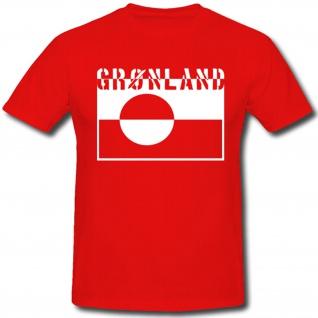 Kalaallit Nunaat Grönland Fahne Flagge Wappen Abzeichen - T Shirt #476