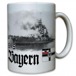 SMS Bayern Großlinienschiff Kaiserlichen Marine Wk Deutschland - Tasse #12246