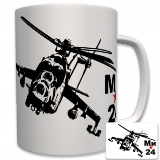 Mil 24 Hind Hubschrauber Helicopter Russland Militär - Tasse Becher Kaffee #6273