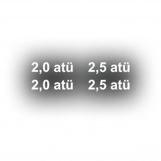 Aufkleber/Sticker Reifendruck atü Sticker Set Kotflügel Kübel 4x 5x1, 5cm A3064