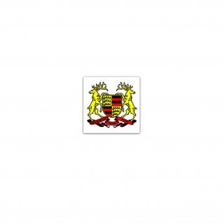 Aufkleber/Sticker Württemberg Wappen BW Baden.Württemberg Emblem 7x7cm A3260