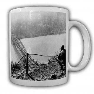 US Soldat an der Brücke von Remagen Militär Army Rhein Airborne #22525