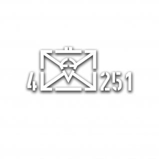 4 FschJgBtl 251 Taktische Zeichen Bataillon Aufkleber 34x14cm A5053