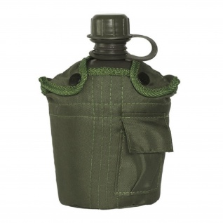 Feldflasche US Army 1 Liter oliv Wasserflasche Camping Survival Outdoor #18719