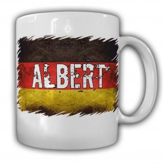 Tasse Albert Kaffeebecher Albert Deutschland Namen Fahne#22049