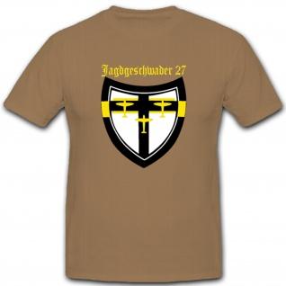 JG 27 Jagdgeschwader 27 Geschwader Wappen Abzeichen Embelm Luftwaffe WK 2 Wh - T Shirt #1569