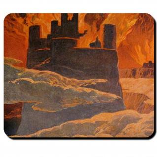 Ragnarök Walhall Feuer Weltenbrand Surt Schicksal Götter Welt Mauspad #16117
