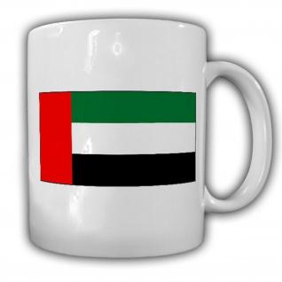 Tasse Vereinigte Arabische Emirate Fahne Flagge Kaffee Becher #14020