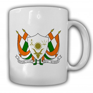 Republik Niger Wappen Emblem République du Niger Kaffee Becher Tasse #13831