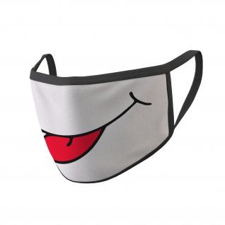 Mundmaske Zunge Raus Spass Comic Humor Bäätsch Maske Mund #34803