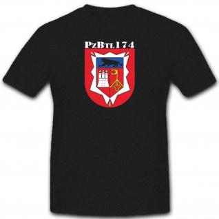 Panzerbataillon Pzbtl 174 Bundeswehr Wappen Abzeichen Armee Heer - T Shirt #3823