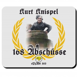 Tiger Panzer Kurt Knispel Militär Wh Wk Panzerkommandant- Mauspad #6371