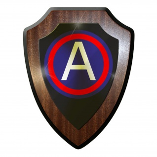Wappenschild / Wandschild - US Army Soldaten Wk Division Militär USA #9601