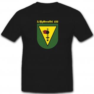 3 PzGrenBtl 122 Panzergrenadierbataillon Wappen Bundeswehr - T Shirt #4136
