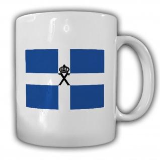 Tasse Organisation X Fahne Wappen Abzeichen Grichenland Oberst Becher #14007