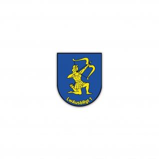 Aufkleber/Sticker LwAusbRgt 1 Luftwaffenausbildungsregiment BW 6x7cm A2477