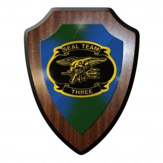 Wappenschild / Wandschild -SEAL Team 3 Navy Marine USA Amerika Sof #9858