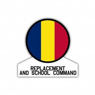 Aufkleber/Sticker Replacement and School Command US Army USA 7x7cm A1093