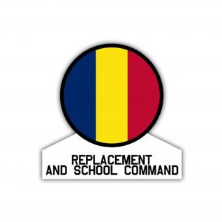 Aufkleber/Sticker Replacement and School Command US Army USA 7x7cm A1093 - Vorschau