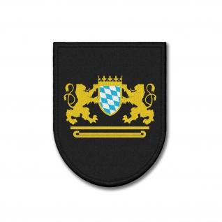 Patch Bayern Freistaat Hoheitszeichen Wappen Abzeichen Aufnäher 9x7cm #36862