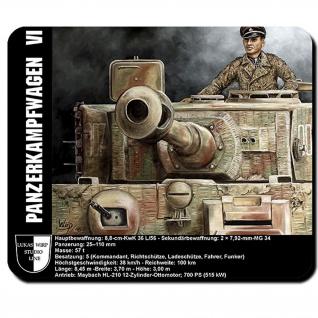 Mauspad Lukas Wirp Tiger Panzer 007 Ass Villers-Bocage Ace Schlacht Bild #23499