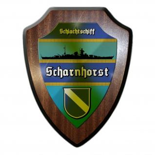 Wappenschild Schlachtschiff Scharnhorst Silhouette Wappen Abzeichen #12060