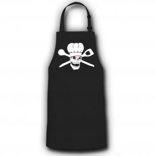 Schürze Feldkoch Skull Mütze Löffel Grill Küche Army #2750