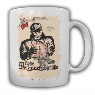 Tasse Liebe Weihnachtsgrüße 1944 Kaffee Becher Weihnachten #23459