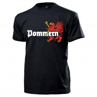 Pommern Wappen Abzeichen Emblem Logo Deutschland Greif - T Shirt #13344