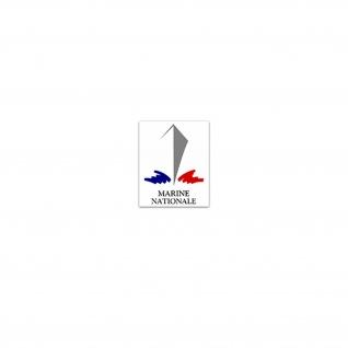 Aufkleber/Sticker Marine Nationale Französische Marine Streitkräfte 6x7cm A3373