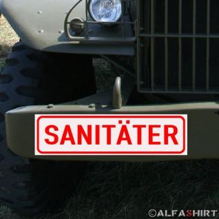 Magnetschild Sanitäter Arzt Feuerwehr für KFZ Fahrzeuge #A176