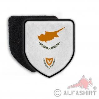 Patch Flagge von der Republik Zypern Flagge Zeichen Wappen Land Staat #21382