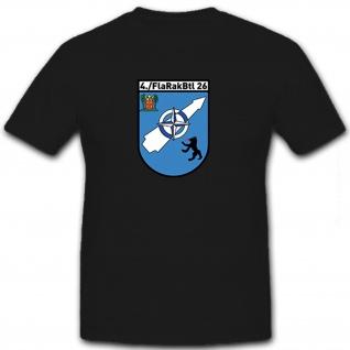 4./FlaRakBtl 26 Flugabwehr Bundeswehr Bw Militär Einheit Wappen - T Shirt #8477