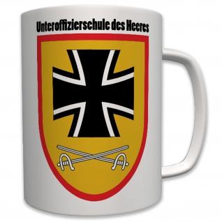 Unteroffizierschule Heeres Bundeswehr Wappen Abzeichen - Tasse #6332