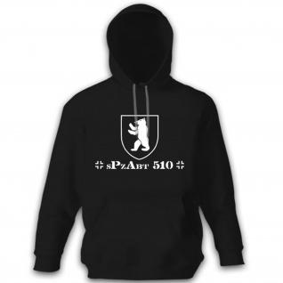 sPzAbt 510 schwere Panzer Abteilung 510 Wappen Abzeichen Pullover Hoodie #12243
