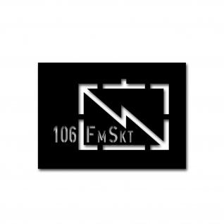 Lackierschablonen Aufkleber 106 Fernmelde Sektor Funk FmSkt 23x14cm #A4679