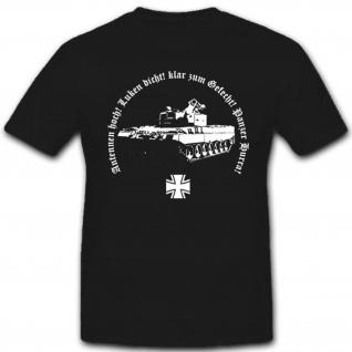 Panzertruppe Militär Bundeswehr Deutscher Panzermann Antennen Hoch T Shirt #3263