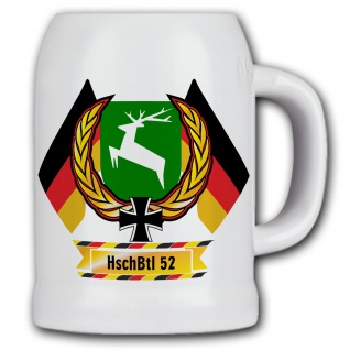 Bierkrug Heimatschutz Bataillon 52 DZE Andenken Geschenk HschBtl #11858