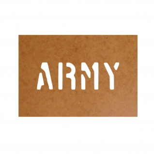 Ölkarton Schablone ARMY Militär Armerika Restoration Decal US WW2 #25033