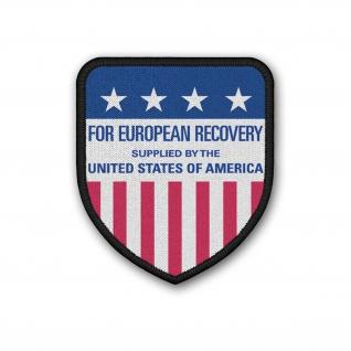 Patch Marshallplan European Recovery Program ERP US Wappen Aufnäher#37182
