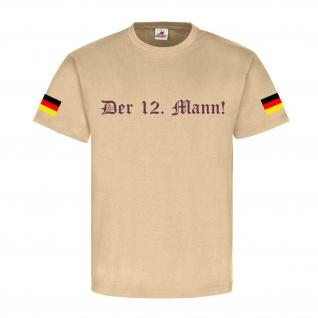 Der 12 Mann Flagge Deutschland Wappen Fahne Emblem - T Shirt #3893
