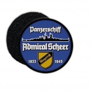 9cm Patch Panzerschiff Admiral Scheer Deutschland-Klasse Aufnäher #36402