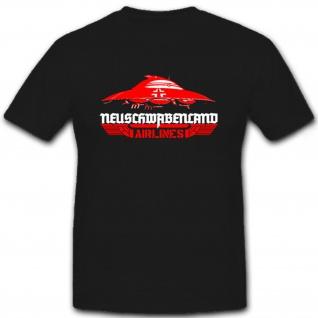 Neuschwabenland airlines Haunebu Raumfahrzeug Flugscheibe WK - T Shirt #7064