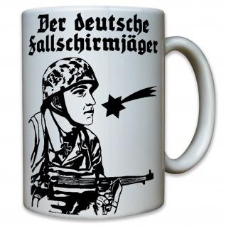 Der deutsche Fallschirmjäger Soldat WK 2 Militär - Tasse Becher Kaffee #10114 t