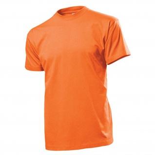 T-Shirt orange Herren Rundhals 100% Ringspinn-Baumwolle Jersey 185 g-m² #12821
