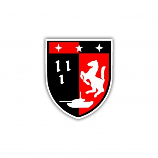 Aufkleber/Sticker PzBtl 120 Wappen Abzeichen Panzerbataillon Emblem 7x6cm A1264